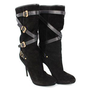 Dior Cavalier Low Suede Buckle Boots WITH BOX 38